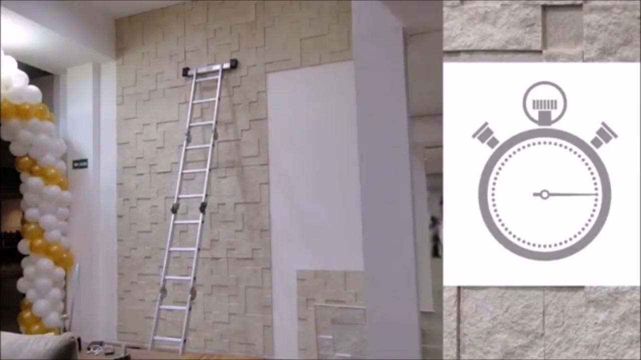 Revestimento de parede placas sint ticas imita o de for Placas pvc para paredes