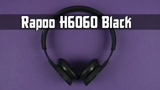 Розпакування Rapoo Bluetooth Headset H6060 Black