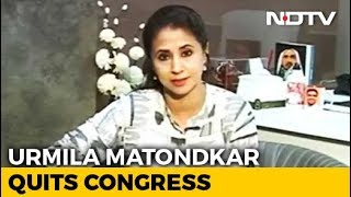 "Urmila Matondkar Quits Congress, Blames ""Petty In-House Politics"""