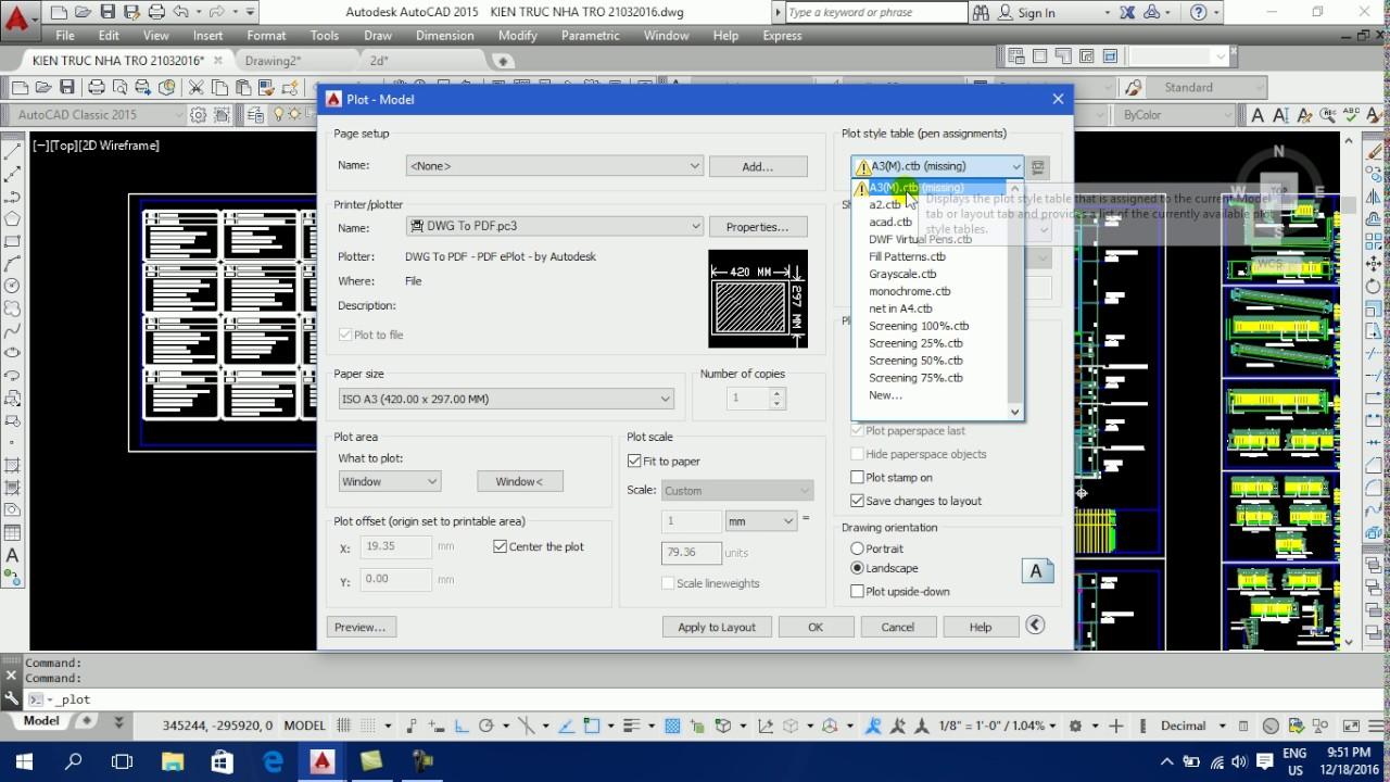 Video 14: Dạy vẽ Autocad – Cách in bản vẽ Autocad ra giấy, xuất bản vẽ Autocad ra file pdf