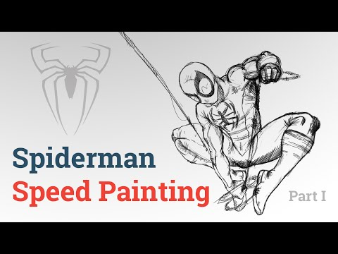 Spiderman Speed Painting - Part I