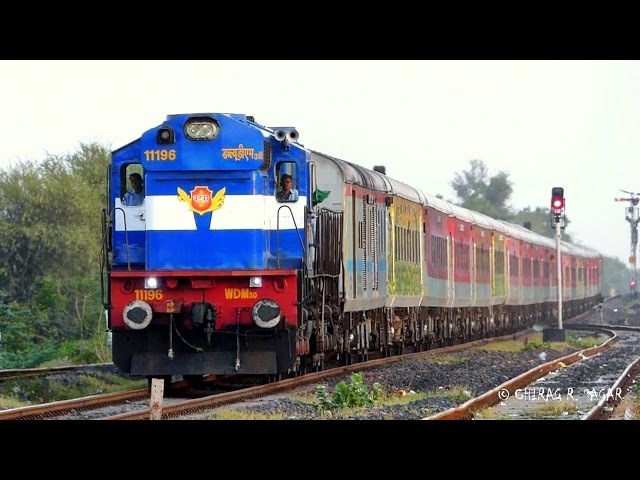 DEADLY DIESEL HONK ! VTA ALCo SPEEDY PAST WITH RAJDHANI EXPRESS