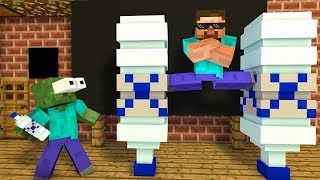 Monster School : EPIC BOTTLE FLIP in CHRISTMAS - Minecraft Animation