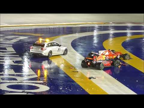 F1 Crash Singapore Formula 1 Grand Prix 2017