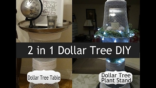 Dollar Tree/Dollarama 2 in 1 !!! DIY  Accent Table  Plant Stand
