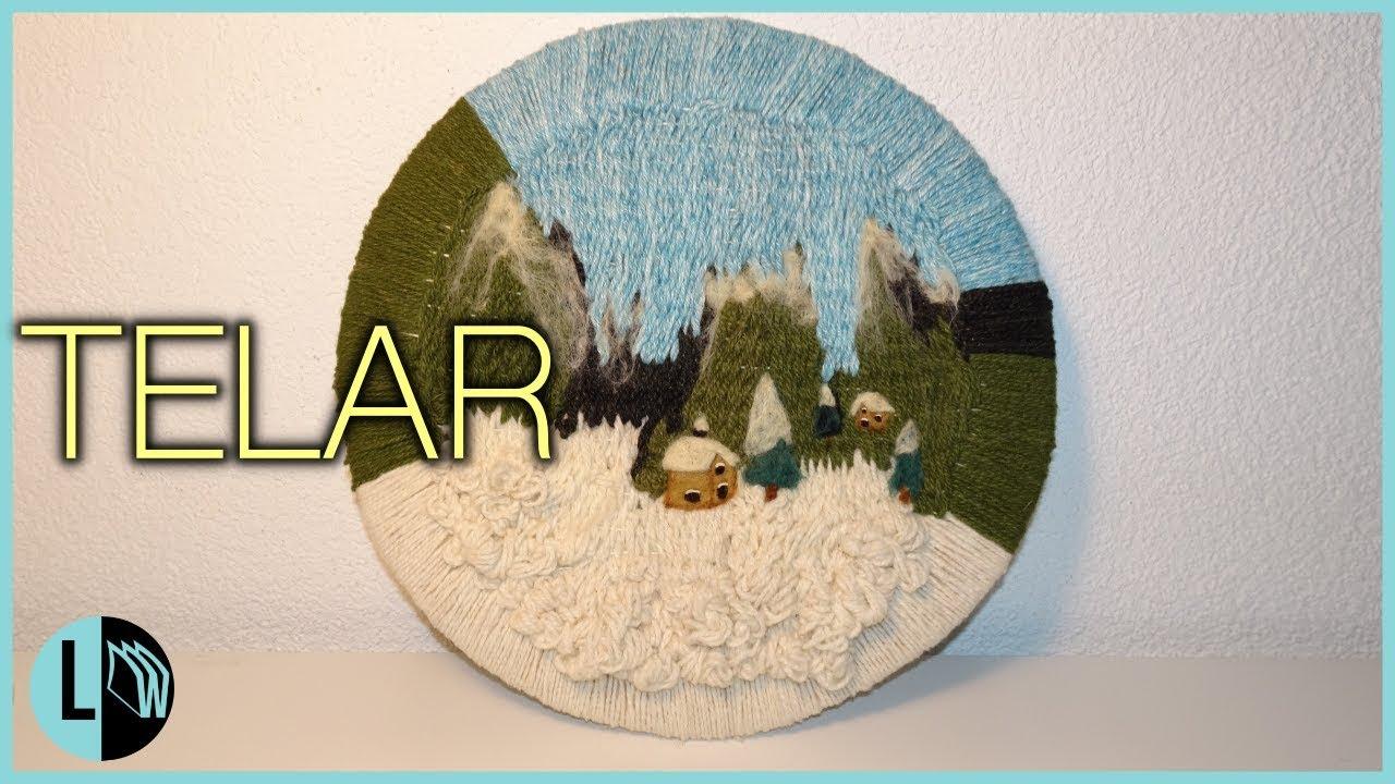 Telar Decorativo Paisaje Nevado Tapiz Circular Paso A Paso Weaving Wallhanging Lana Wolle