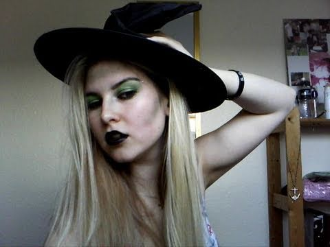 Halloween - Wicked Witch Make Up Tutorial - YouTube