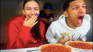 4x Spicy Noodle Challenge!! Loser Has To...*VERY PAINFUL*