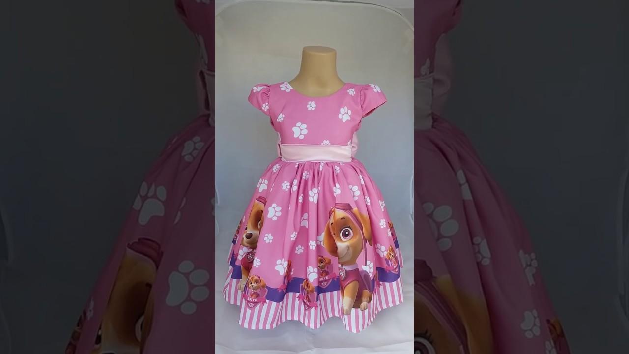 Vestido Infantil Skye Patrulha Canina