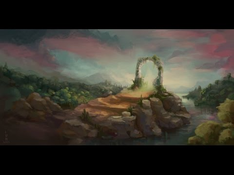 Door to unknown – landscape painting
