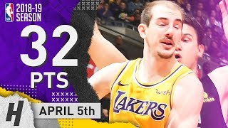 Alex Caruso CLUTCH Full Highlights Lakers vs Clippers 2019.04.05 - 32 Points, 10 Reb!