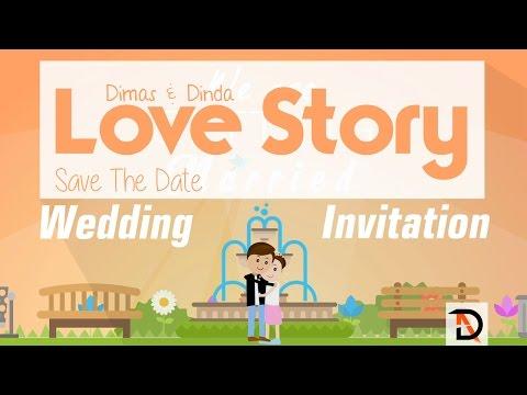 Wedding Invitation Love Story Animation by Digital Art