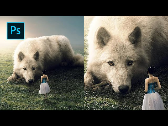 Friendly Wolf - Photoshop Manipulation Tutorial