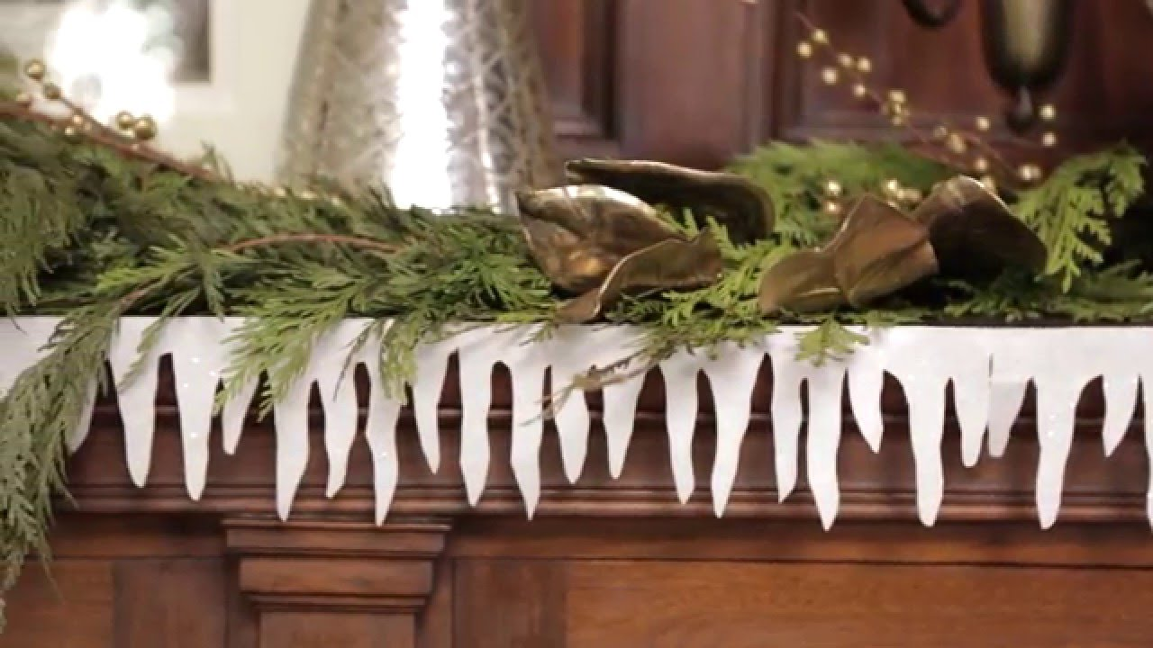 How To Make A Paper Icicle Garland Youtube