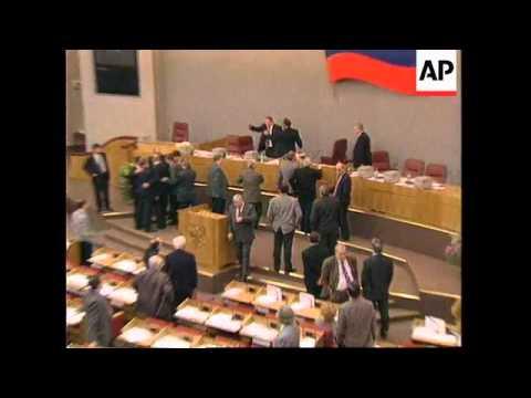 Russia - Zhirinovsky Causes Fracas In Duma