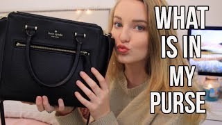 WHATS IN MY PURSE 2017!! Ft:  Kate spade