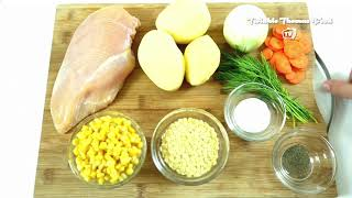 SIMPLE AND QUICK HEALTHY CHICKEN SOUP RECIPE