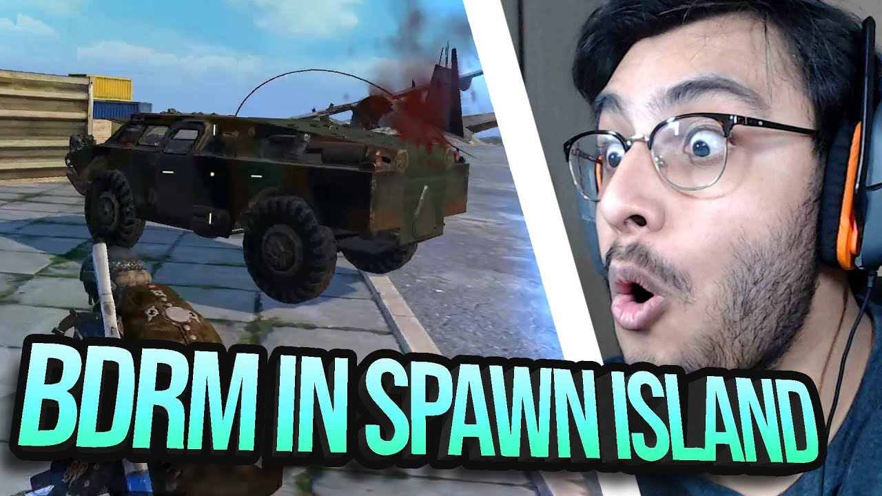 NEW FLARE GUN BDRM IN SPAWN ISLAND | PUBG MOBILE HIGHLIGHT | RAWKNEE