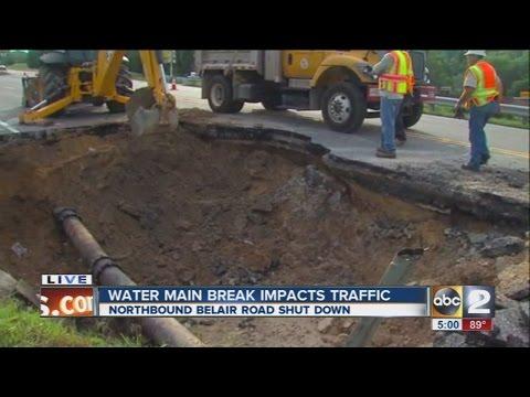 Water main break impacts Belair Road