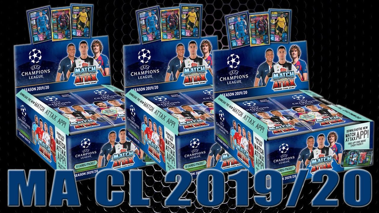 45 Cards + LE Gold Card Champions League 2019-20 Topps Match Attax Extra Cards Mini Tin