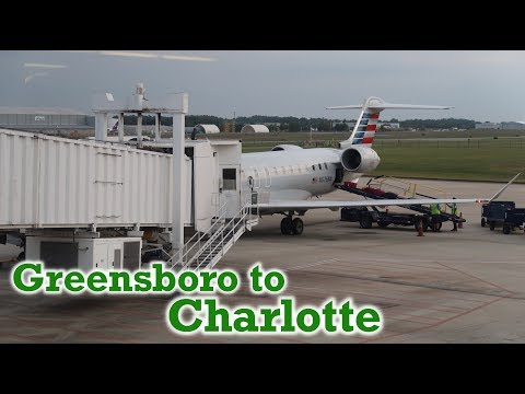 Full Flight: American Eagle CRJ-900 Greensboro To Charlotte (GSO-CLT)