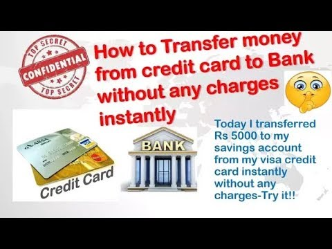 Credit Card To Bank Transfer Without Fee