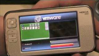 VMware demo showing two operating systems running on one phone