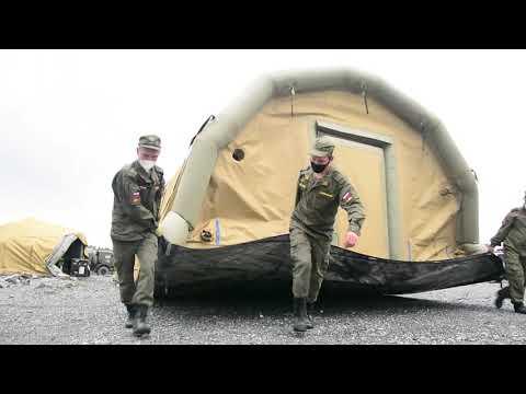 Убытие военных медиков из поселка Еруда Красноярского края