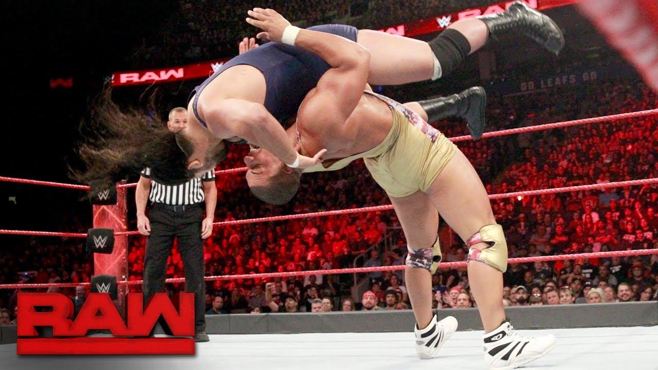 Jason Jordan vs. Jean-Pierre Goulet: Raw, Aug. 7, 2017