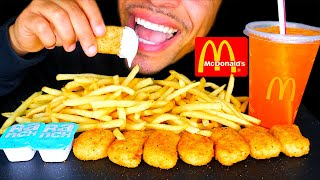 MCDONALD'S CHICKEN NUGGETS FRIES RANCH SAUCE ORANGE HI-C DRINK EATING MOUTH SOUNDS