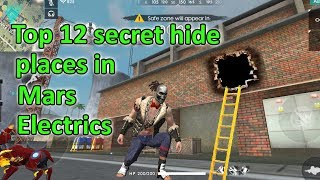 Free fire top 12 secret hiding places in Mars electric Bermuda tricks tamil