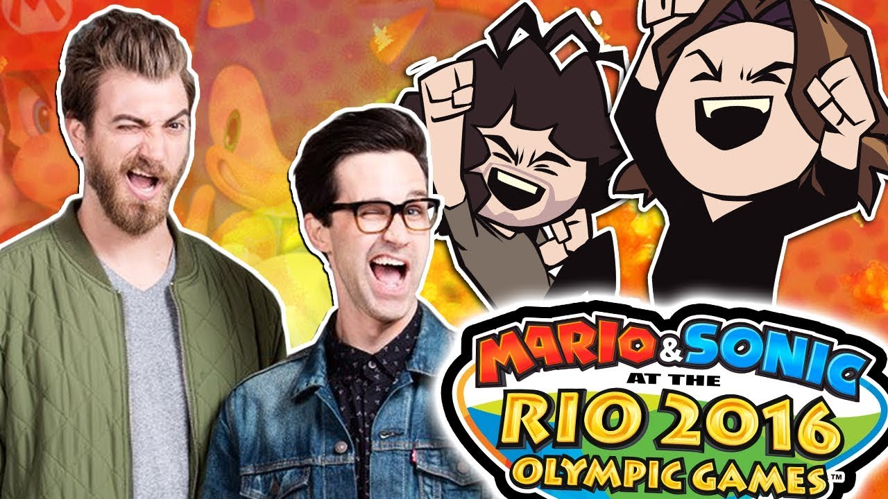 mario and sonic at the rio olympics with special guests rhett and
