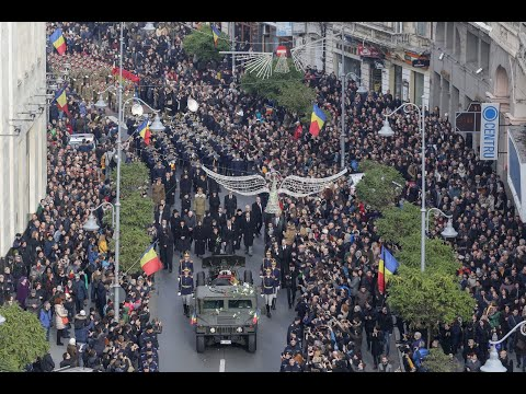Thousands gather to pay final respects to Romania's former King Michael
