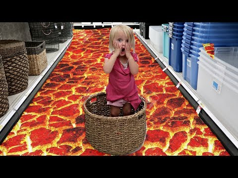 THE FLOOR IS LAVA AT TARGET!!!