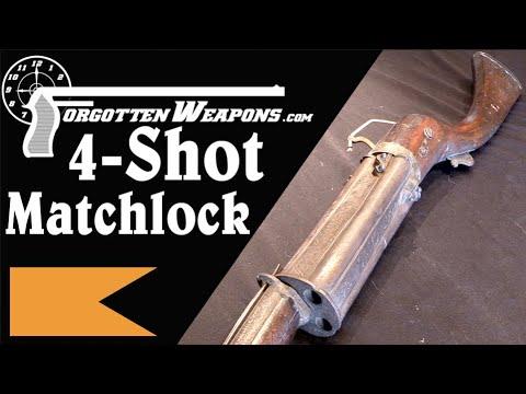 Indian 4-Shot Repeating Matchlock Toradar