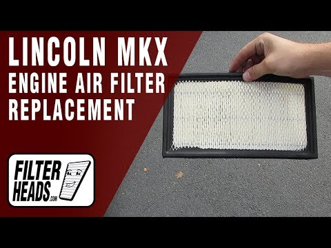 How to Replace Engine Air Filter 2008 Lincoln MKX V6 3.5L