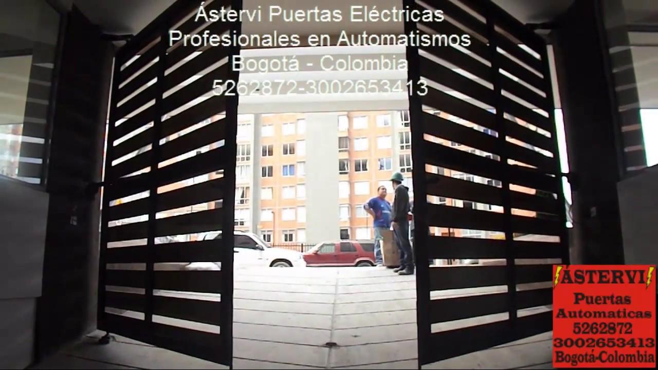 Puerta automatica en madera youtube for Como fabricar un kiosco de madera