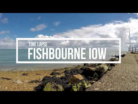 Timelapse  Wightlink Ferry Fishbourne Isle Of Wight