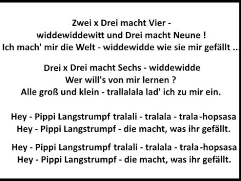Pippi Langstrumpf - Remix with Lyrics