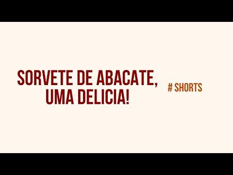 Sorvete de Abacate, uma delícia! #shorts