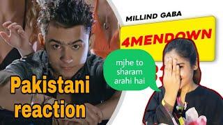 Pakistani reaction on | 4MenDown Full Video - Millind Gaba | Latest Punjabi Songs | saima pirzada