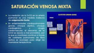 Saturacion venosa definicion