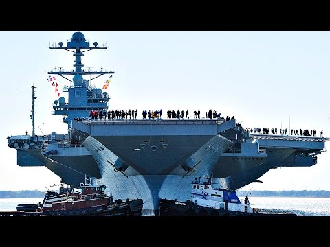 New $13B Aircraft Carrier USS Gerald R. Ford Moves On Own Power For The First Time