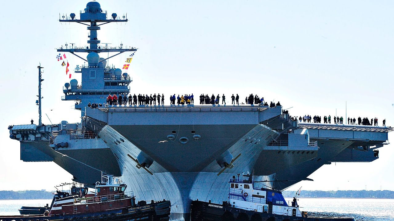 New $13B Aircraft Carrier USS Gerald R. Ford Moves On Own ...