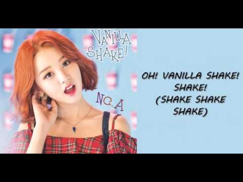 N.CA Vanilla Shake Lyrics [ROM/ENG]