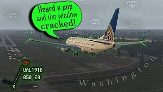[REAL ATC] United with a CRACKED WINDSHIELD returns to DULLES!