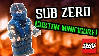 !HOW TO MAKE!LEGO SUB-ZERO! Custom Minifigure PlayHunter