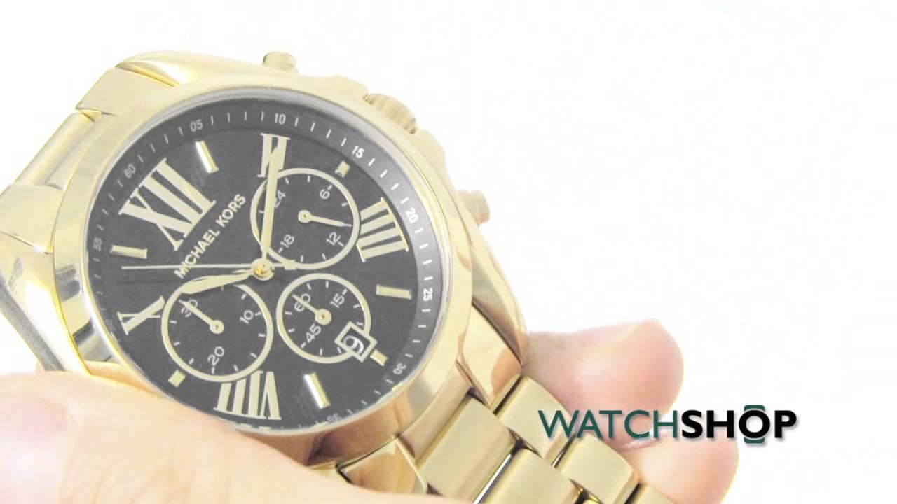 b10ae75e8d23 Michael Kors Ladies  Bradshaw Chronograph Watch (MK5739) - YouTube