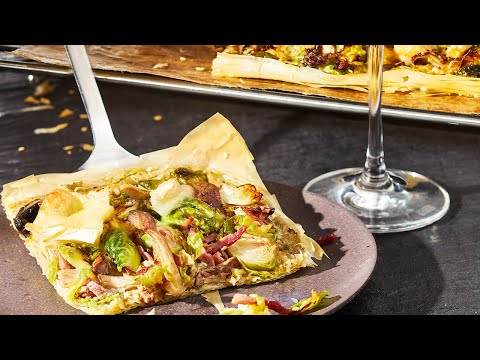 recette---tarte-aux-légumes-d'automne,-pesto-de-ricotta-et-lardons---colruyt