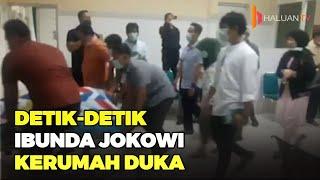 Jakarta, tvOnenews.com - Jenazah almarhumah ibunda Presiden Joko Widodo (Jokowi), Sudjiatmi Notomiha.